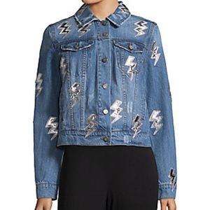 NWOT Bagatelle Lightning Bolt Denim Jacket